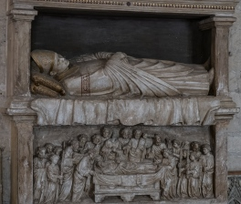 Entombed Cardinal in Papal Palace