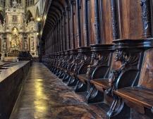 Row of seats at Basilica of St. Sernin