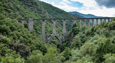 Pyrenees train bridge
