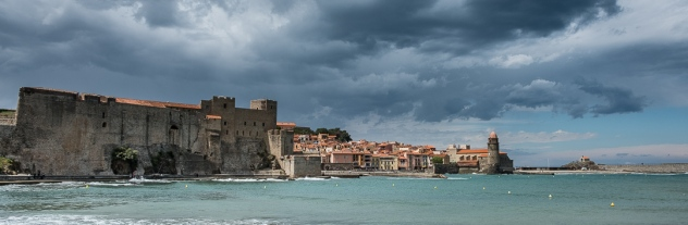 Castle at Collioure, France on the Mediterranean