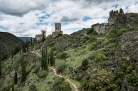 The four castles of Lastour, France