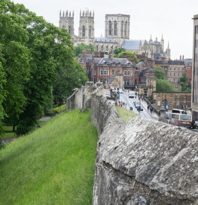 York Wall looking toward the Minster.