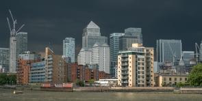 New financial buildings in London
