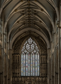 Minster Stained glass and arches