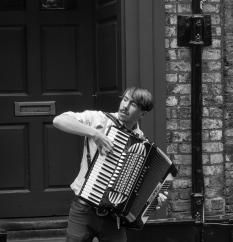 Street musician of York