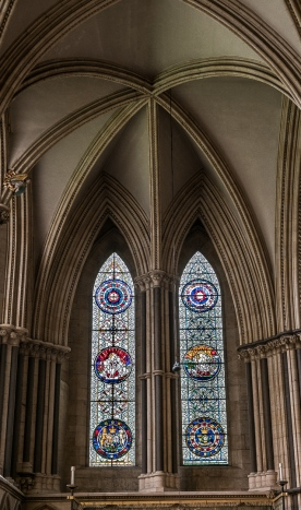 Stained Glass and arches