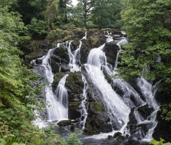 Swallow Falls in Wales