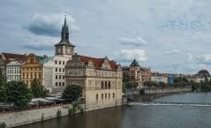 Vltava River river front.