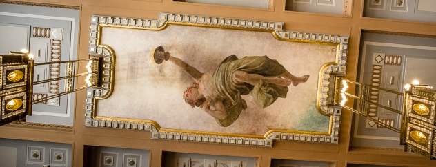 Ceiling painting in the Municipal House
