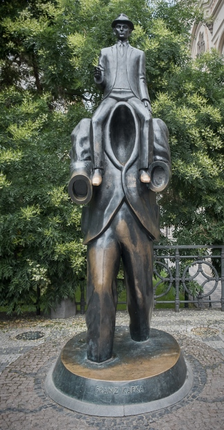 Franz Kafka statue. A sort of Metamorphosis.