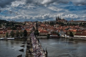 Charles Bridge on a busy weekend.