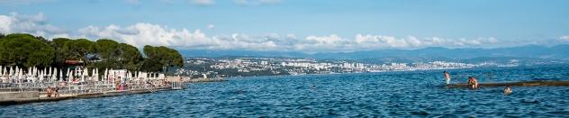 City of Rijeka from Opatija