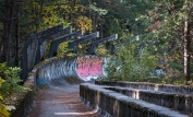 The 1984 Olympic Bobsled course.
