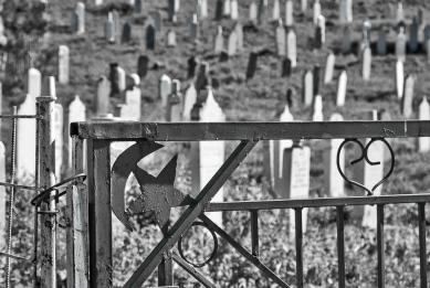 Muslim cemetery in Lukomir.