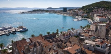 View of Split harbor from Saint Dominus bell tower