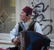Sarajevo street musician.