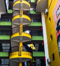 Kind a funky building in Sarajevo.