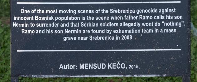Srebrenice genocide.