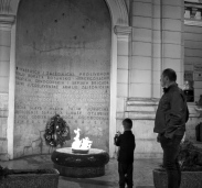 Eternal Flame in Sarajevo, a memorial the the military and civilian victims of WWII who fought against Nazi occupation.
