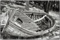 Abandoned boat in Kotor.