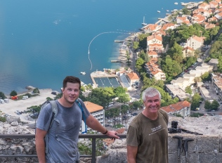 Hiking to the castle above Kotor.