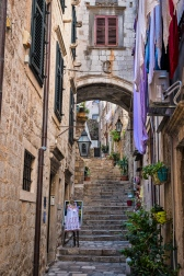Streets of Dubrovnik .