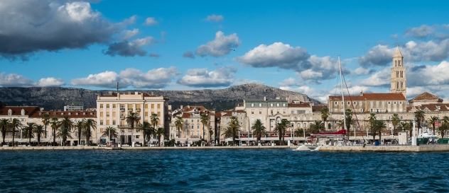 The city of Split from the bay.