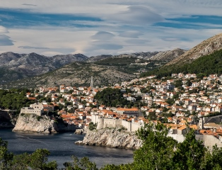 Dubrovnik from the Adriatic.