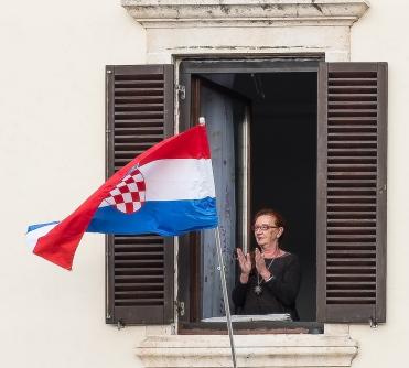 Celebrating Croatian Indepence.