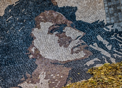 Tile street art of Amalia-best know Fado singer.