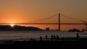 Sunset at the 5th of April Bridge.