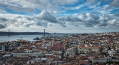 The view from the hills of Lisbon