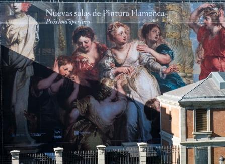 Wall painting on the Prado Art Museum