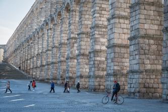 Roman Aquaduct in Segovia