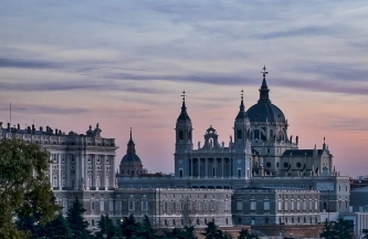Segovia Cathedral at sunset