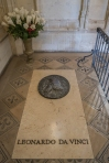 Burial marker at Chateau d'Ambose