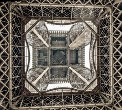 the icon of Paris from below