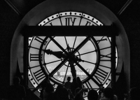 Clock in Orsay, an old train station