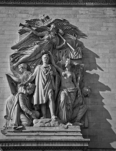 Napoleon on the Arc de Triumph